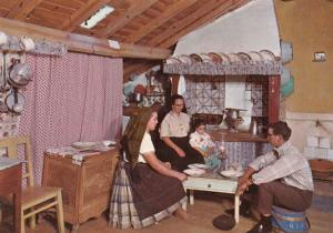 Portugal Fishermens Home Fishing House After Eating Fish Dinner Postcard