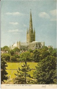 Norwich Cathedral From the South East England Vintage Postcard