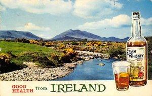 Good help from Ireland Irish whiskey Advertising Writing on Back