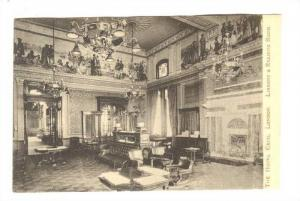 The Hotel Cecil , London , England, Interior view ; Library & Reading Room, 0...