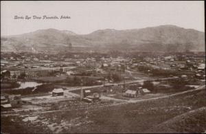 Pocatello ID Birdseye View c1910 Postcard rpx