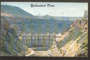 Yellowtail Dam under Construction Bighorn River Montana MT, Chrome