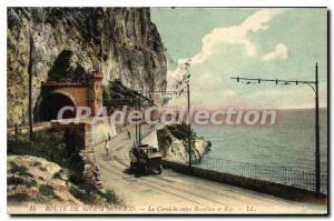 Postcard Old Road NICE MONACO cornice between Beaulieu and EZE