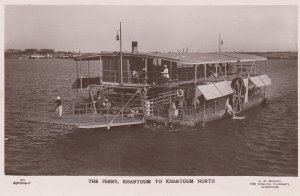 RP: Khartoum , Sudan , 1910-30s ; The Ferry