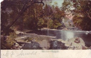 Asheville NC - French Broad River flowing from the BILTMORE BRIDGE 1900s
