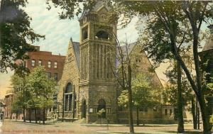 South Bend Indiana~First Presbyterian Church Corner~Store Up Street~1910
