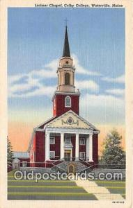 Churches Vintage Postcard Waterville, Maine, USA Vintage Postcard Lorimer Cha...