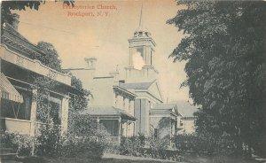 G50/ Brockport New York Postcard c1910 Presbyterian Church Building