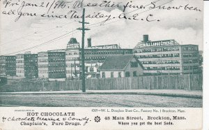 BROCKTON , Massachusetts , 1901-07 ; W.L. Douglass Shoe Company