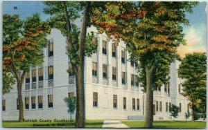 Bismarck, North Dakota Postcard BURLEIGH COUNTY COURT HOUSE Tichnor Linen c1940s