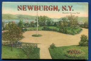 Newburgh New York ny postcard folder foldout