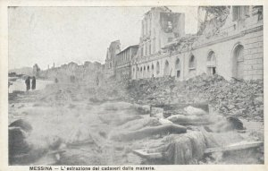 MESSINA , Italy , 00-10s ; Earthquake Dead Bodies