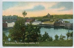 Melville Island North West Arm Halifax Nova Scotia Canada 1910s postcard