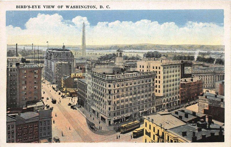 Bird's-Eye View of Washington, D.C., Early Postcard, Unused