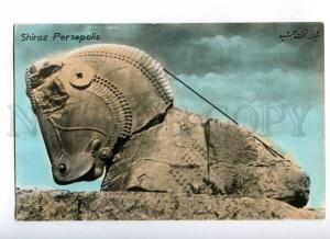 193125 IRAN Persia SHIRAZ Persepolis Vintage tinted postcard