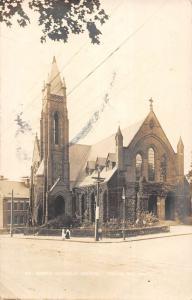 Brookline Massachusetts St Marys Catholic Church Real Photo Postcard K104020
