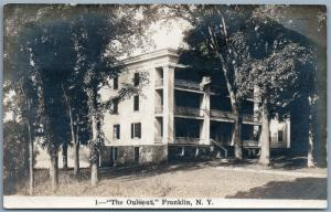 FRANKLIN NY THE OULEOUT VINTAGE REAL PHOTO POSTCARD RPPC