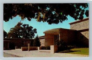 Art Center Building Entrance, Greenwood Park, Des Moines Iowa Vintage Postcard