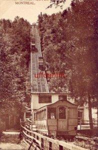 INCLINE RAILWAY MOUNT ROYAL PARK MONTREAL QUEBEC CANADA 1917