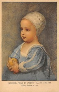 Art Post Card,Old Vintage Artist Postcard Giacomo, Figlio di Carlo Van Dyk, R...