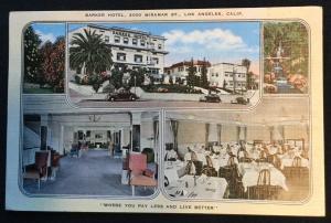 Barker Hotel LAX CA Used Linen Postcard LB