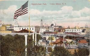Amusement Park Postcard Post Card Steeplechase Park Coney Island, New York, N...