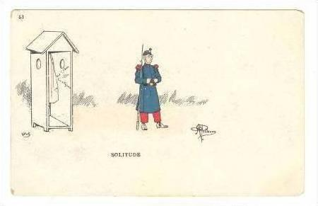 Soldier at Guard post, Solitude, 1898-1905