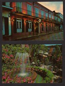 LA Lot 2 Pat O'Brien's Restaurant New Orleans Louisiana Postcards Vieux Carre