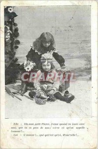 Old Postcard She Dis Moi Petit Pierre J'Aime when Cheeks with Me He Love Me t...