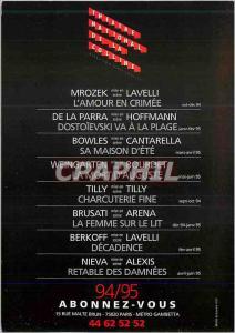 Postcard Modern Theater National de la Colline Subscribe You Rue Malte Brun M...