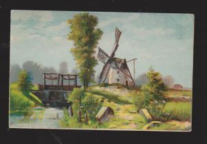 Landscape With Windmill - Used 1909 From Lilly, PA To Ottawa ON