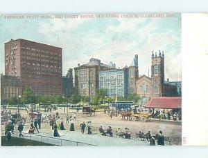 Pre-1907 BUILDING SCENE Cleveland Ohio OH AE9073