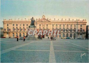Modern Postcard Nancy (M and M) statue of King Stanislas and the town hall