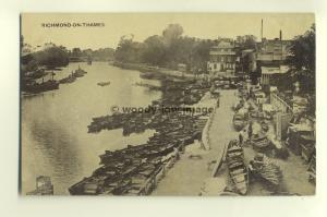tp5110 - Middx - Looking down at Pleasure Crafts on Richmond-on-Sea  - Postcard