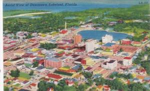 Florida Lakeland Aerial View Of Downtown