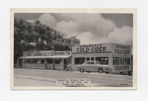 40s-50s Dougherty's Original Cider Hill Paoli, IN Postcard - Unposted and RARE