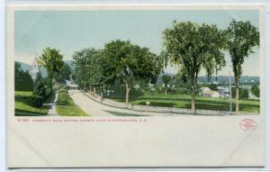 Meredith Road Centre Harbor Lake Winnepesaukee New Hampshire 1907c postcard