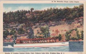 New York Watkins Glen Stroller IV Passing Painted Rocks Capt Palmers Lake Rid...