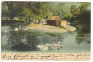 The Duck Pond, Brooklawn Park, New Bedford, Massachusetts, PU-1909