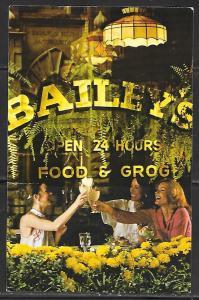 New Orleans Louisiana Fairmont Hotel, Bailey's, unused.