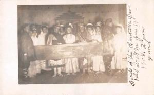 People in Costume Party Scene Conversion of St Paul Real Photo Postcard J67802