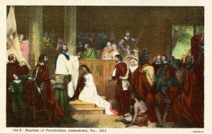 VA - Jamestown. Baptism of Pocahontas, 1613