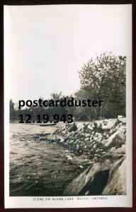 943 - MADOC Ontario 1920s Moira Lake. Real Photo Postcard