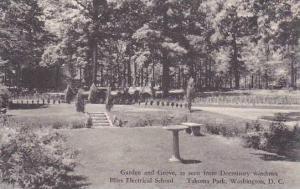 Washington DC Bliss Electrical School Takoma Park Garden And Grove As Seen Fr...
