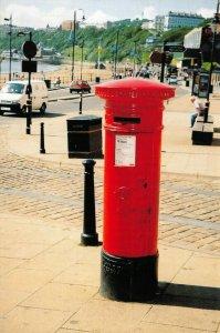 North Yorkshire Postcard, 1887 V.R Pillar Post Box, Scarborough GI7