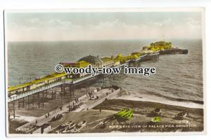 tq1103 - An Early Birds Eye View of Palace Pier and Brighton Beach - postcard