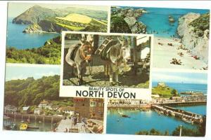 UK, Beauty Spots of North Devon, 1970 used Postcard