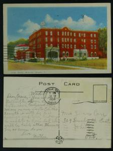 Hotel Quinte-Belleville Ontario  1950 stamp off