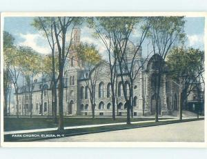 Unused W-Border CHURCH SCENE Elmira New York NY G3751