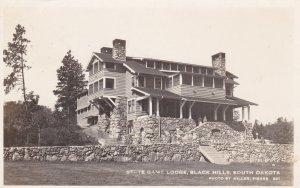 South Dakota Black Hills State Game Lodge 1943 Real Photo